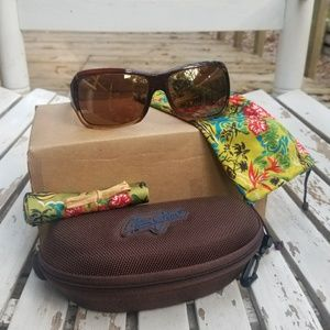 Maui Jim NEW LENSES polarized sunglasses palms